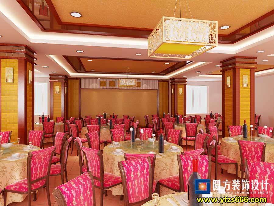 泰和饭店三楼大厅装修效果-泰和装饰公司--圆方装饰