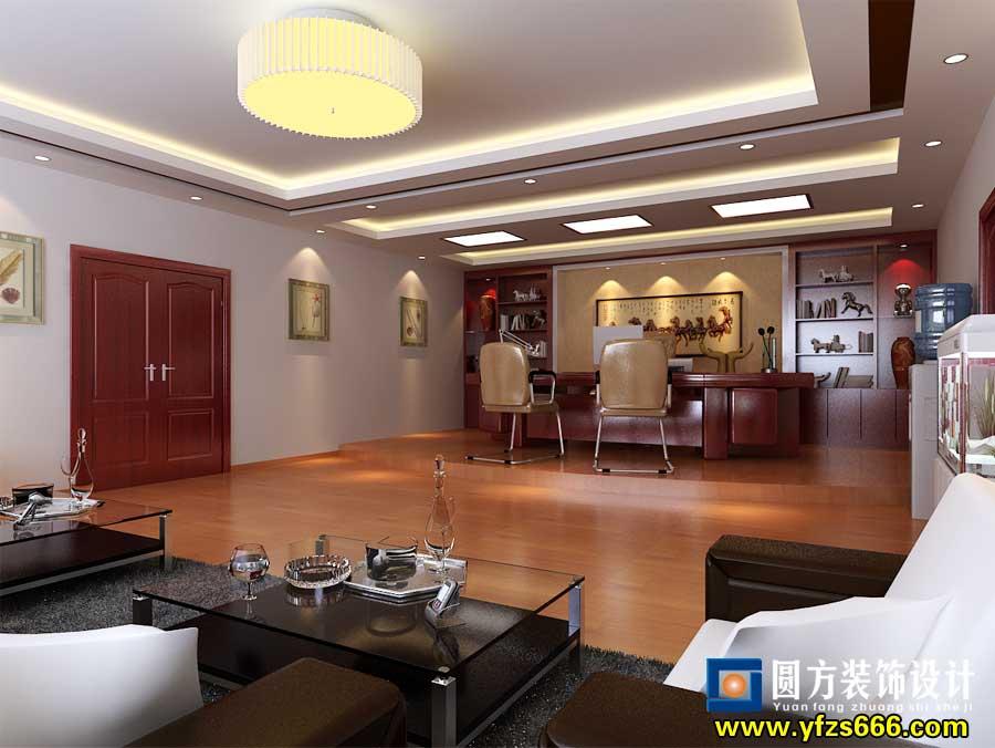 井冈园林董事长办公室装修效果 泰和装饰公司 高清图片